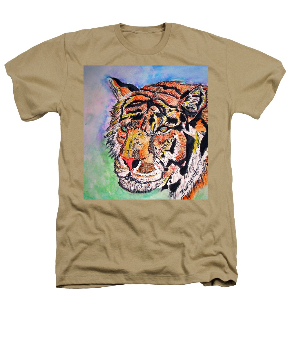 Abstract Heathers T-Shirt featuring the painting Paradise Dream by Crystal Hubbard