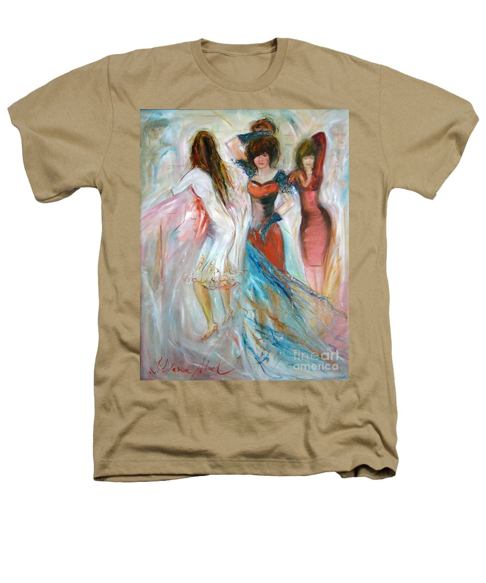 Contemporary Art Heathers T-Shirt featuring the painting Party Time by Silvana Abel