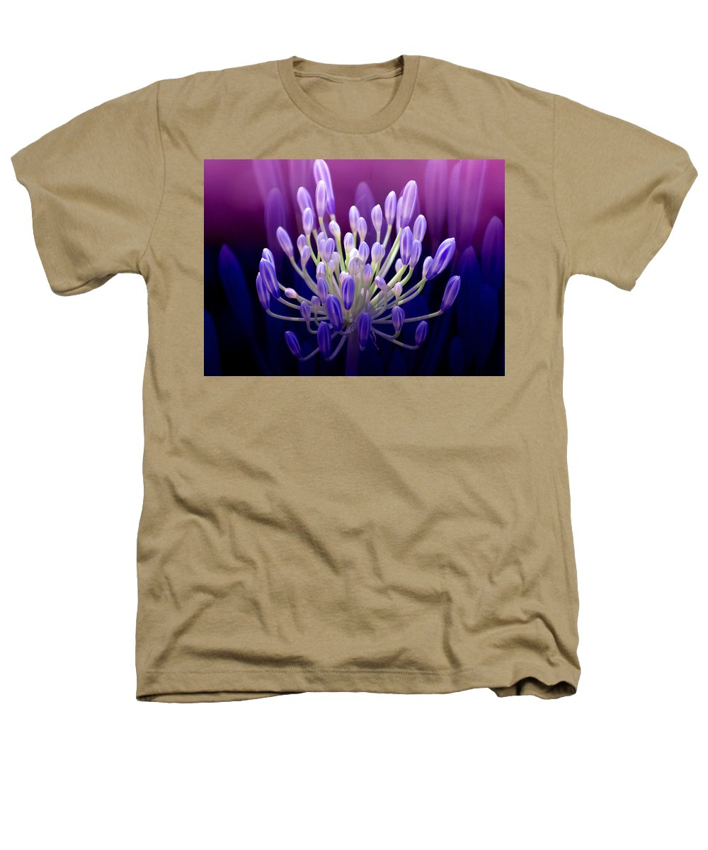 Agapanthus Heathers T-Shirt featuring the photograph Praise by Holly Kempe
