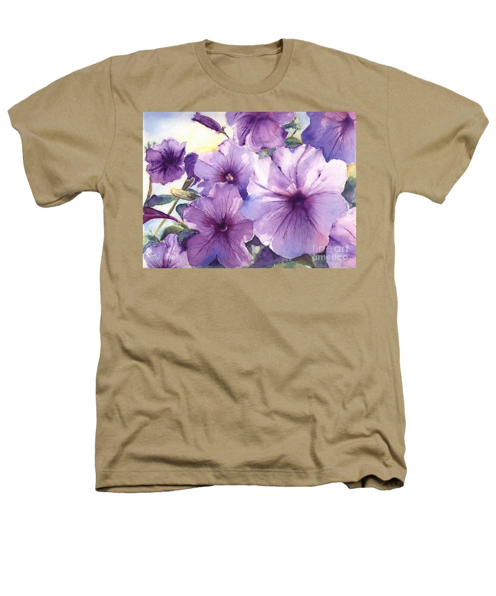 Purple Heathers T-Shirt featuring the painting Purple Profusion by Patricia Henderson