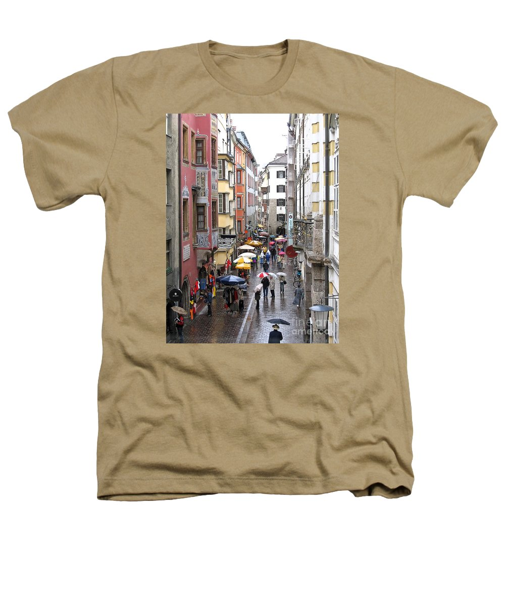 Innsbruck Heathers T-Shirt featuring the photograph Rainy Day Shopping by Ann Horn