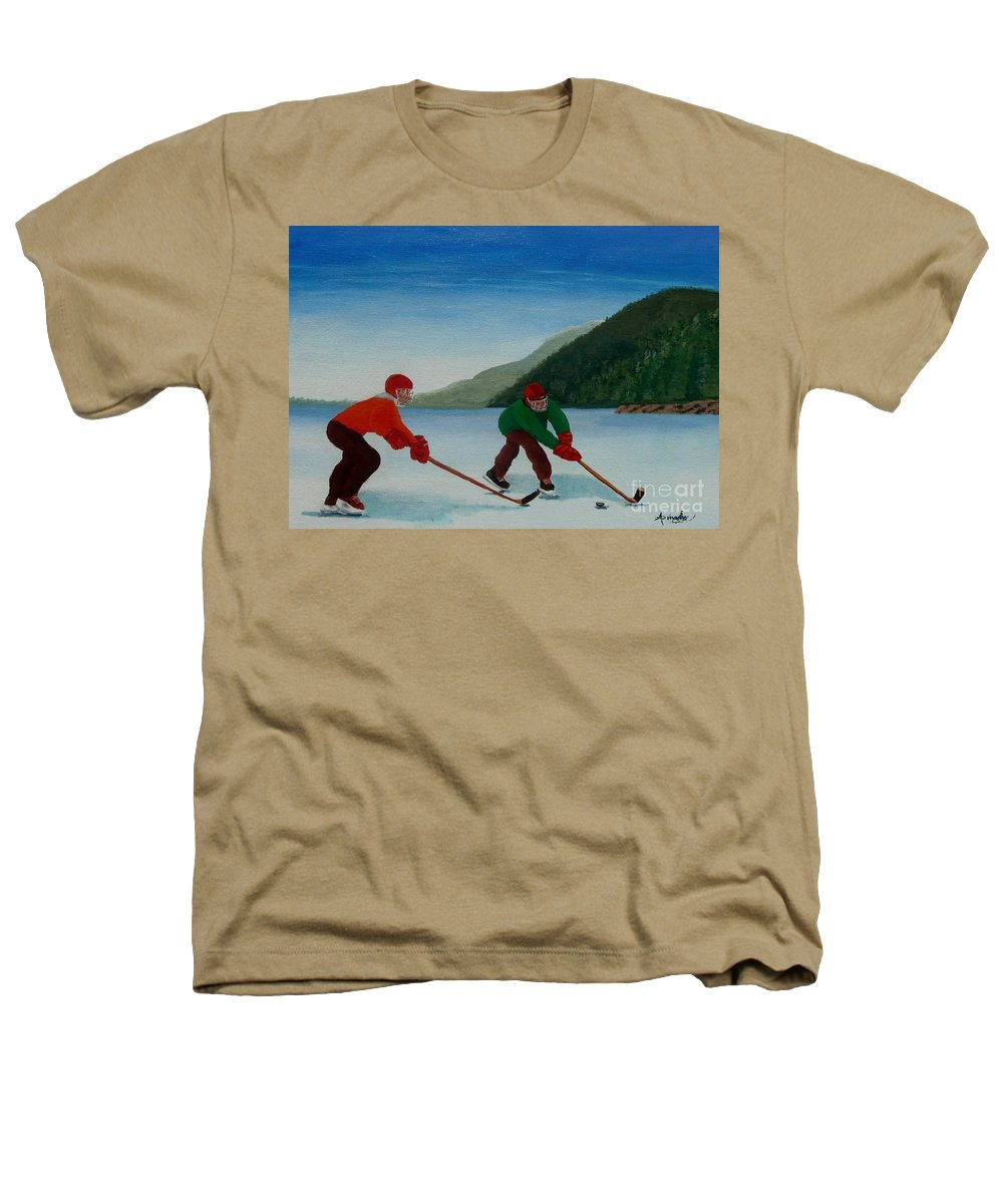 Pond Heathers T-Shirt featuring the painting Reach For It by Anthony Dunphy