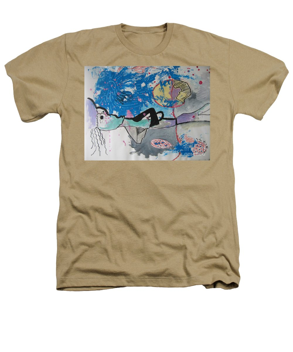 Abstract Paintings Heathers T-Shirt featuring the painting Read My Mind2 by Seon-Jeong Kim