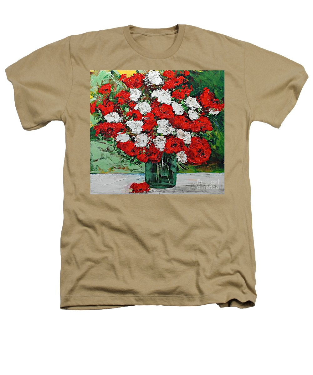 Landscape Heathers T-Shirt featuring the painting Red Explosion by Allan P Friedlander