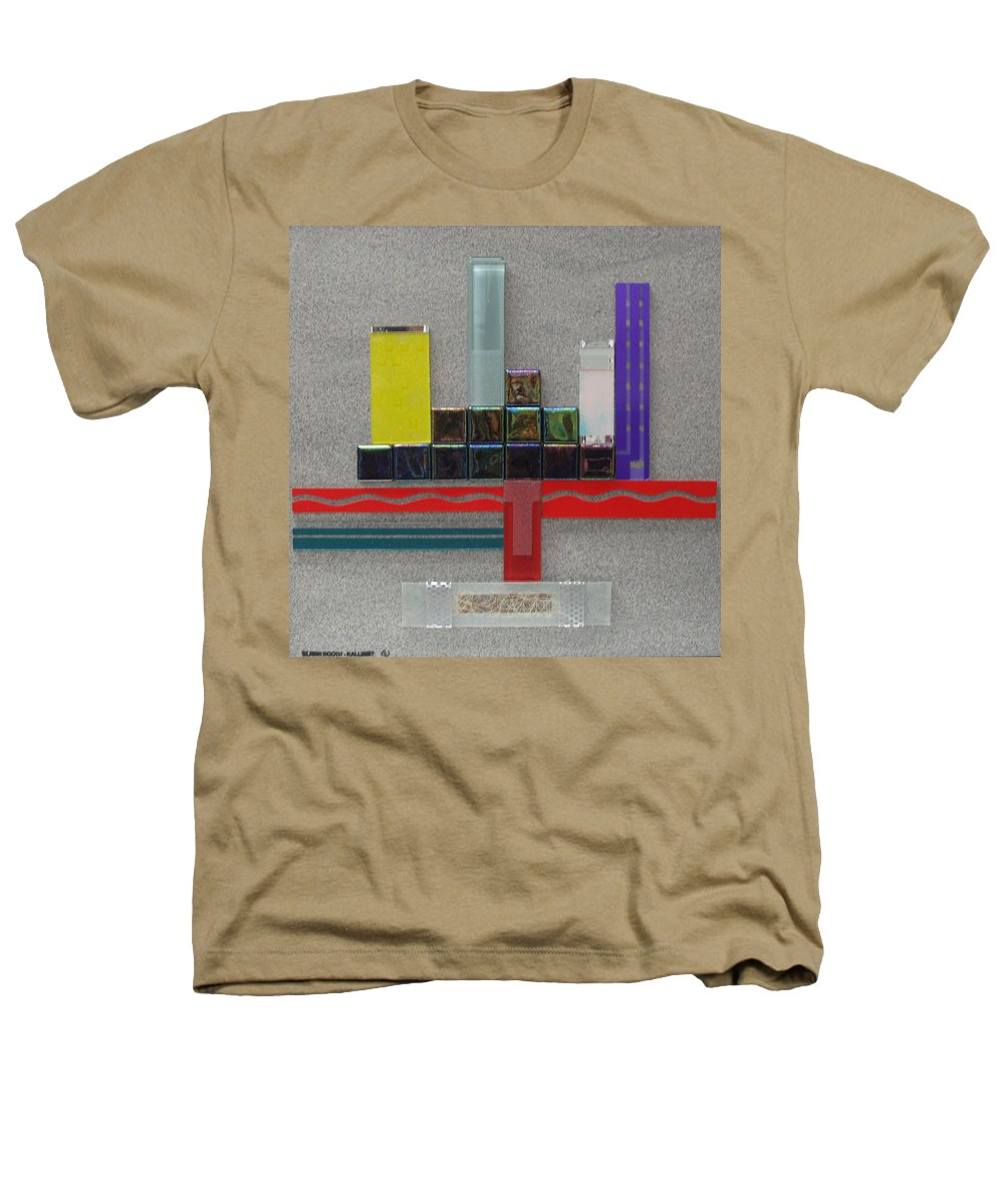 Assemblage Heathers T-Shirt featuring the relief Red River City by Elaine Booth-Kallweit