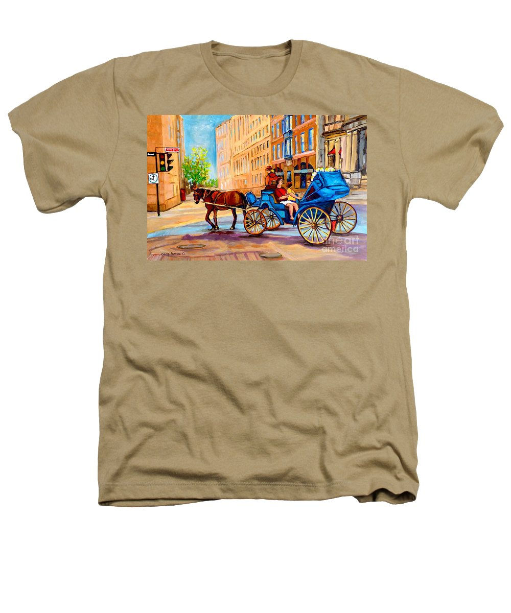 Rue Notre Dame Heathers T-Shirt featuring the painting Rue Notre Dame Caleche Ride by Carole Spandau
