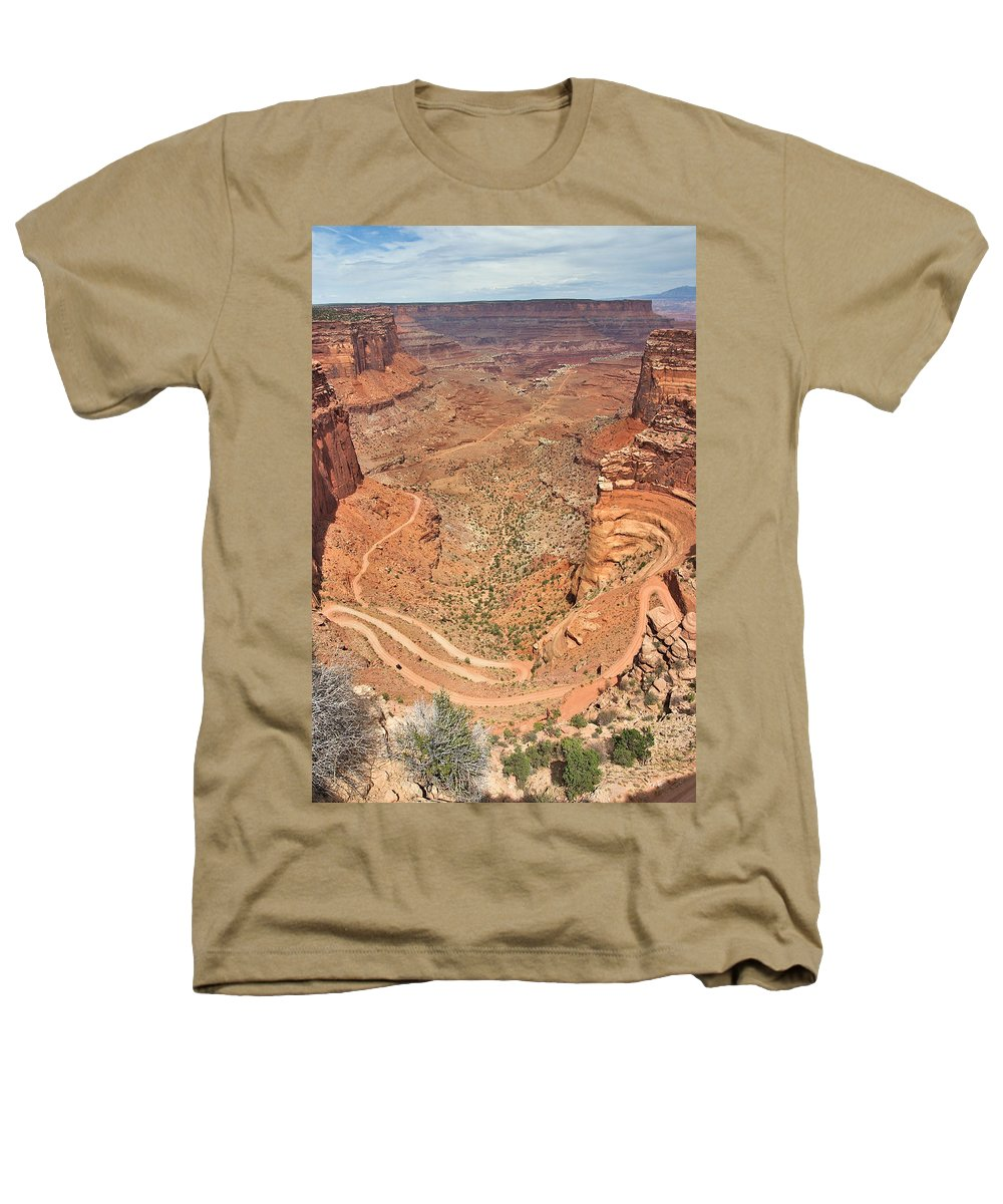 3scape Photos Heathers T-Shirt featuring the photograph Shafer Trail by Adam Romanowicz
