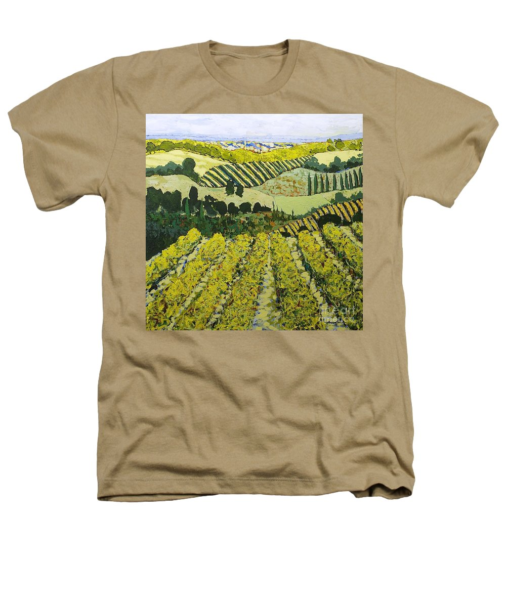 Landscape Heathers T-Shirt featuring the painting Sharing The Discovery by Allan P Friedlander