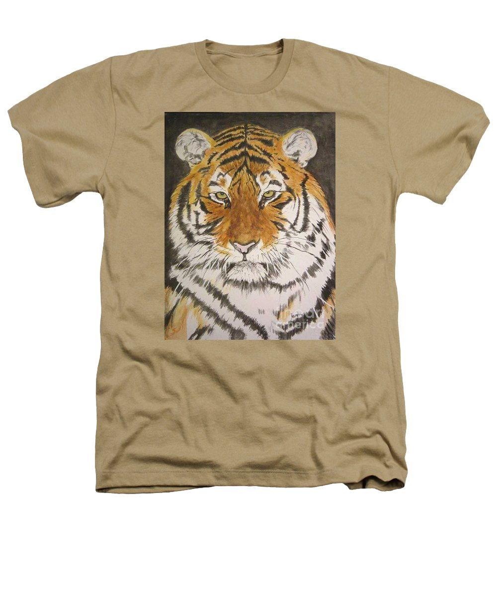 Siberian Tiger Heathers T-Shirt featuring the painting Siberian Tiger by Regan J Smith
