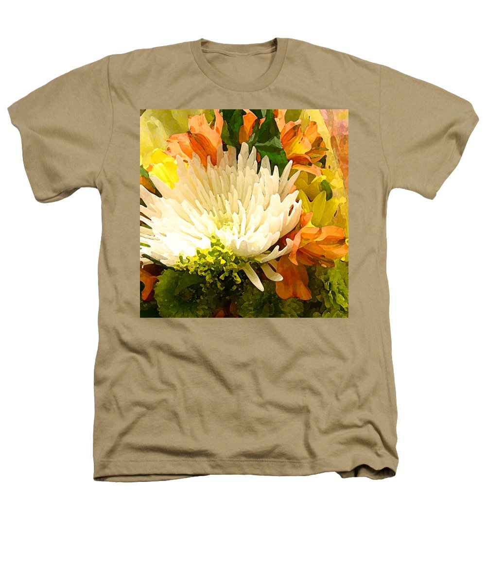 Roses Heathers T-Shirt featuring the painting Spring Flower Burst by Amy Vangsgard
