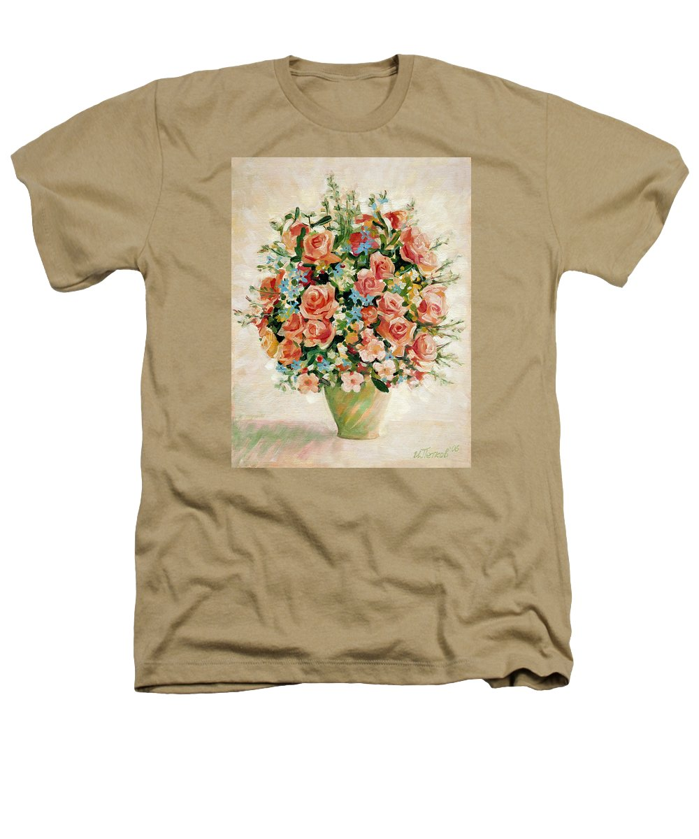 Flowers Heathers T-Shirt featuring the painting Still Life With Roses by Iliyan Bozhanov