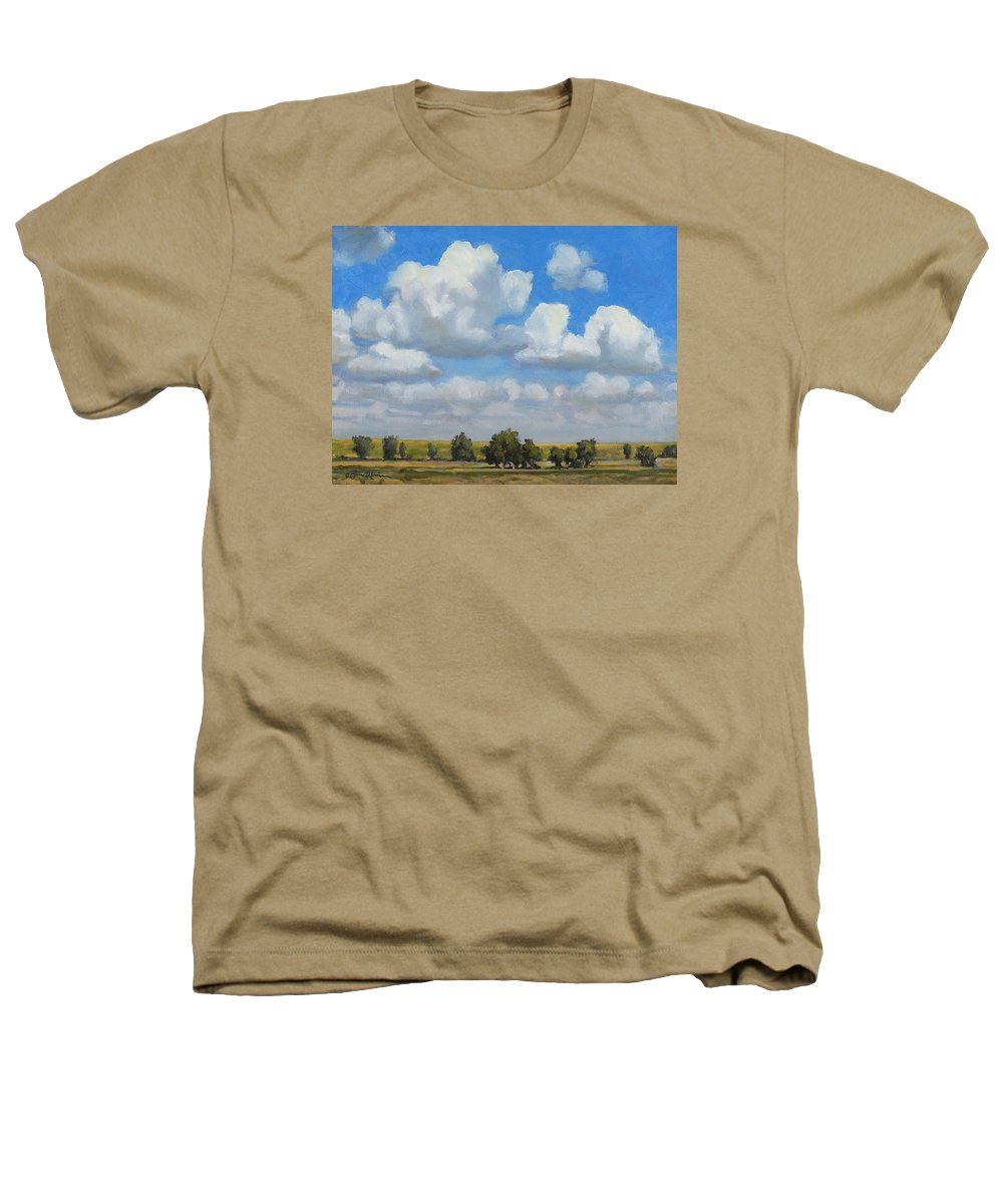 Landscape Heathers T-Shirt featuring the painting Summer Pasture by Bruce Morrison