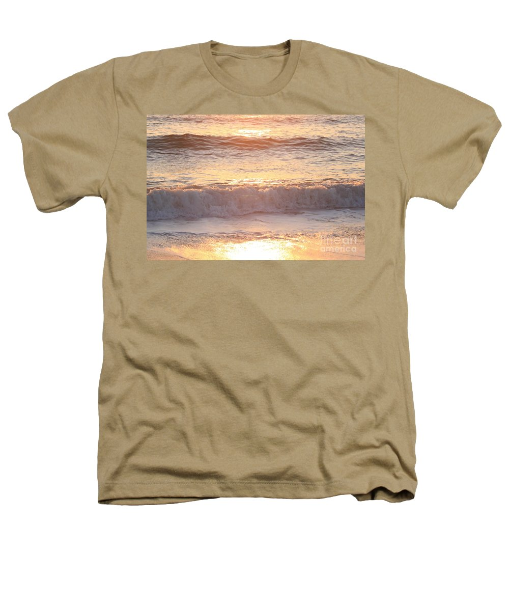 Waves Heathers T-Shirt featuring the photograph Sunrise Waves by Nadine Rippelmeyer