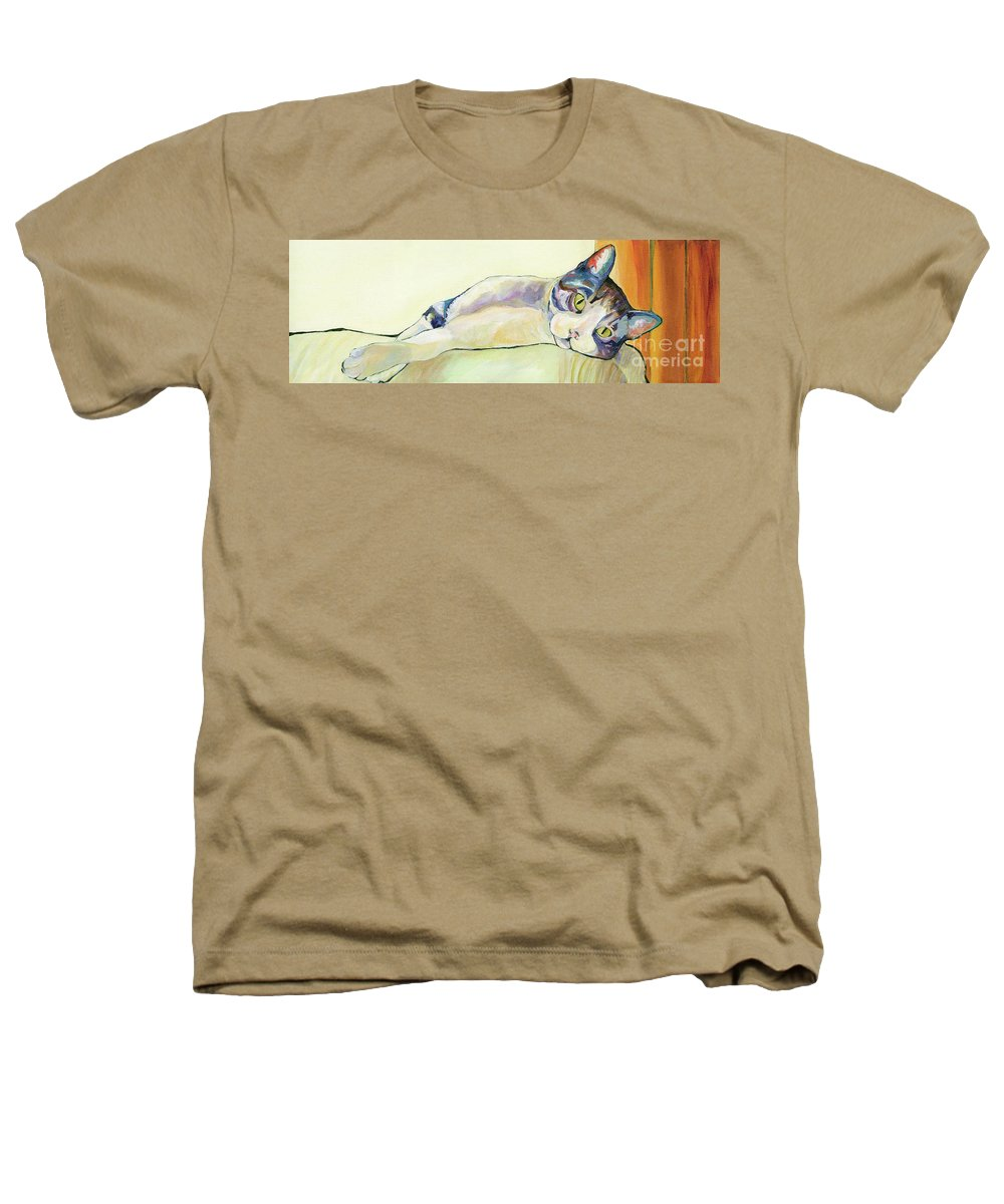 Pat Saunders-white Canvas Prints Heathers T-Shirt featuring the painting The Sunbather by Pat Saunders-White