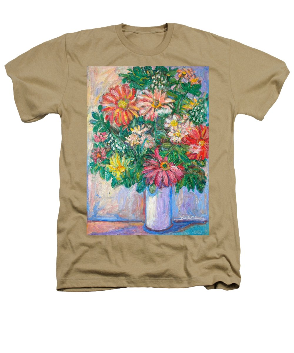 Still Life Heathers T-Shirt featuring the painting The White Vase by Kendall Kessler