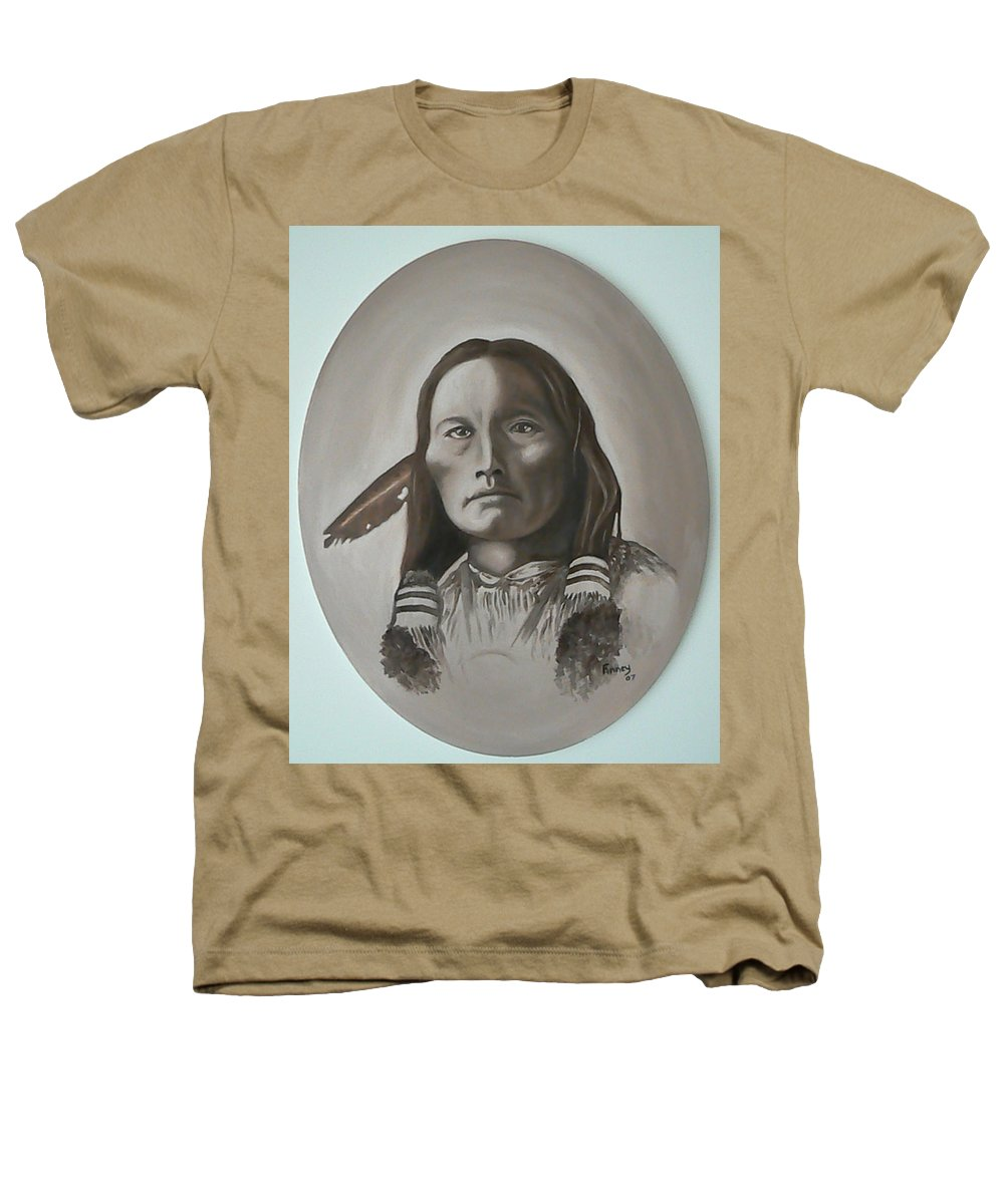 Michael Heathers T-Shirt featuring the painting Three Fingers by Michael TMAD Finney