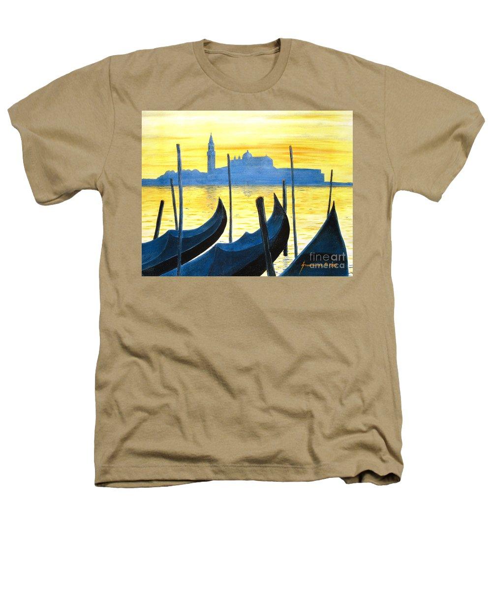 Venice Heathers T-Shirt featuring the painting Venezia Venice Italy by Jerome Stumphauzer