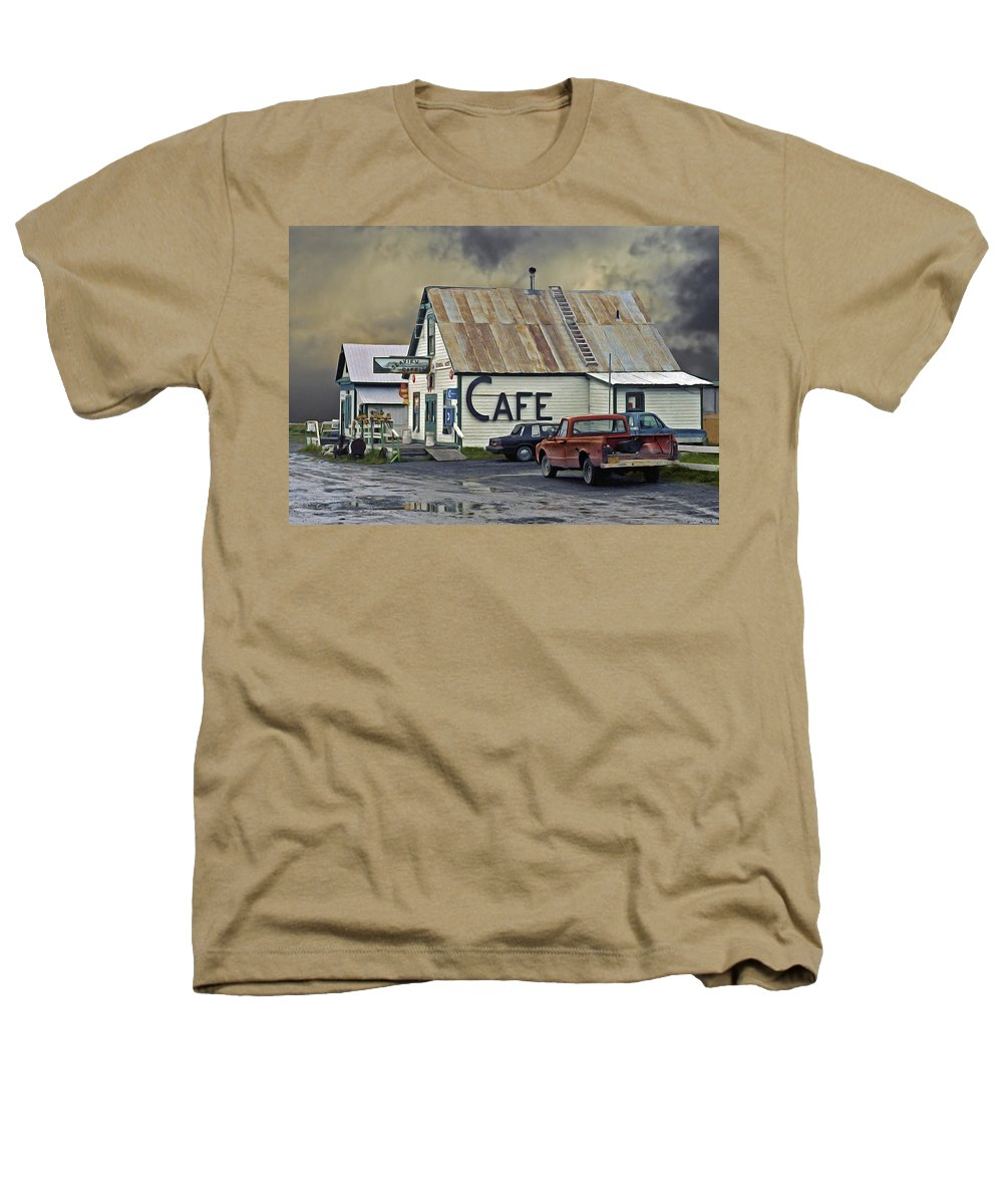 Alaska Heathers T-Shirt featuring the photograph Vintage Alaska Cafe by Ron Day