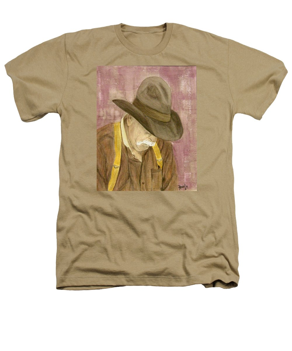 Western Heathers T-Shirt featuring the painting Walter by Regan J Smith