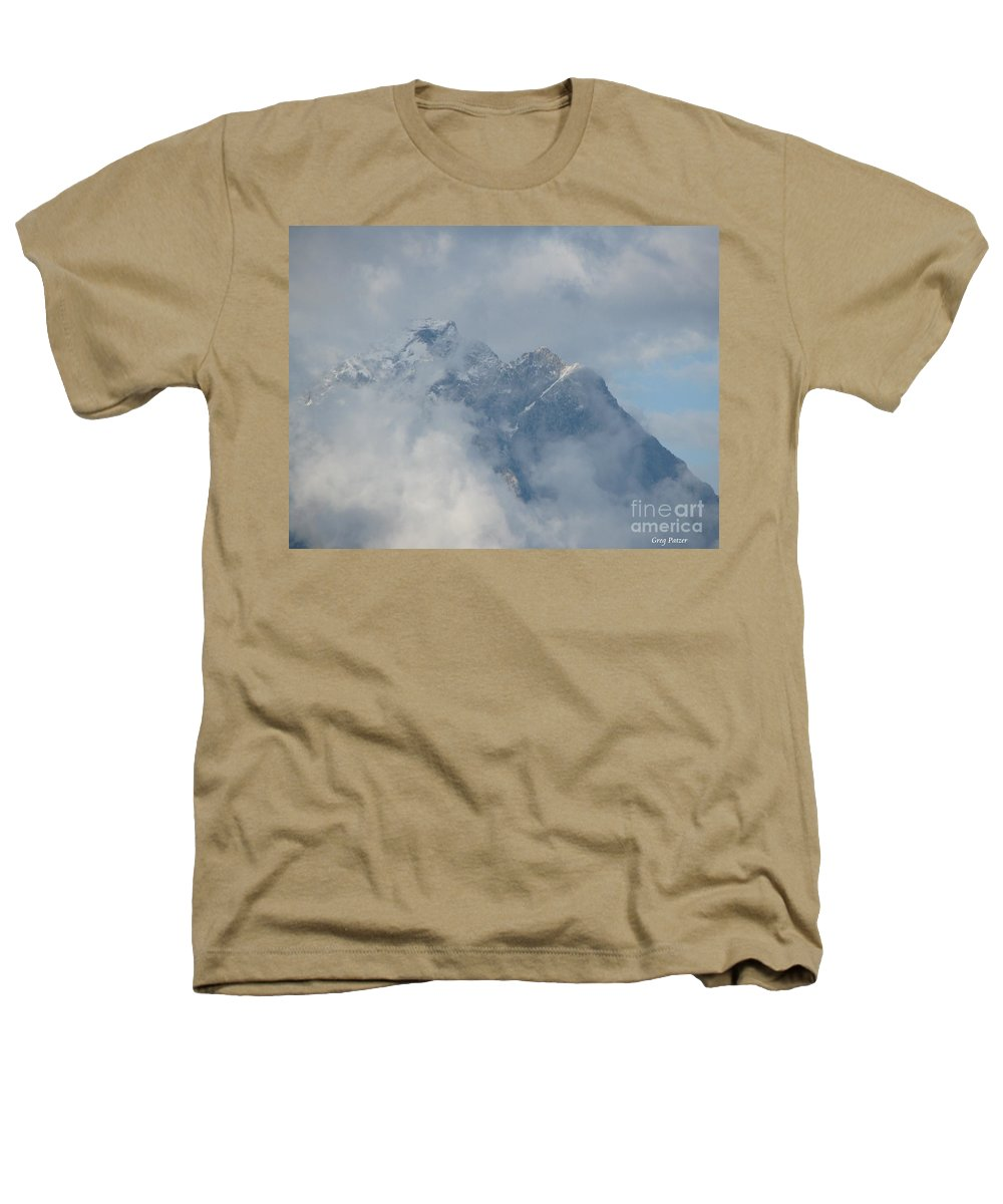 Patzer Heathers T-Shirt featuring the photograph Way Up Here by Greg Patzer