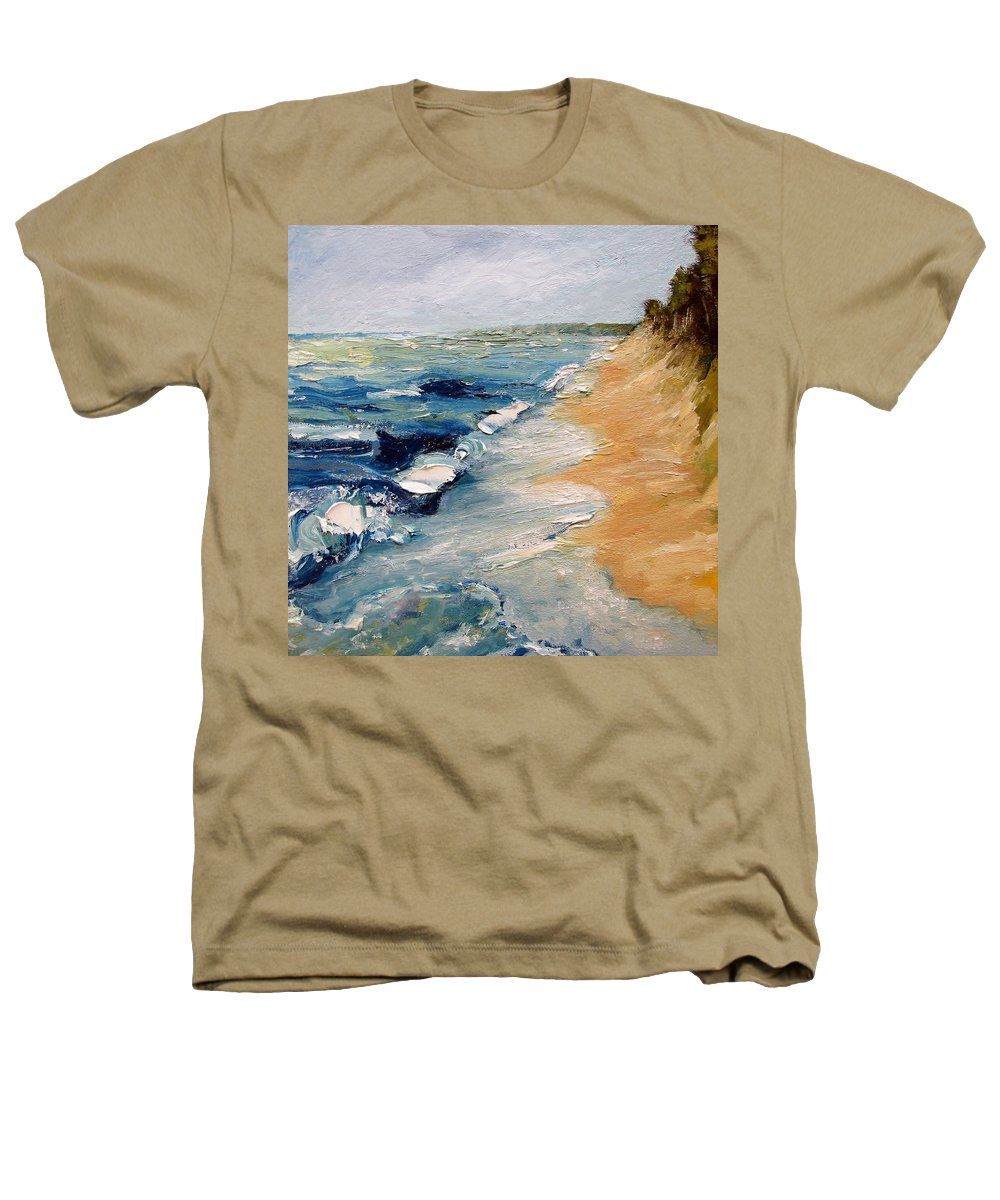 Whitecaps Heathers T-Shirt featuring the painting Whitecaps On Lake Michigan 3.0 by Michelle Calkins