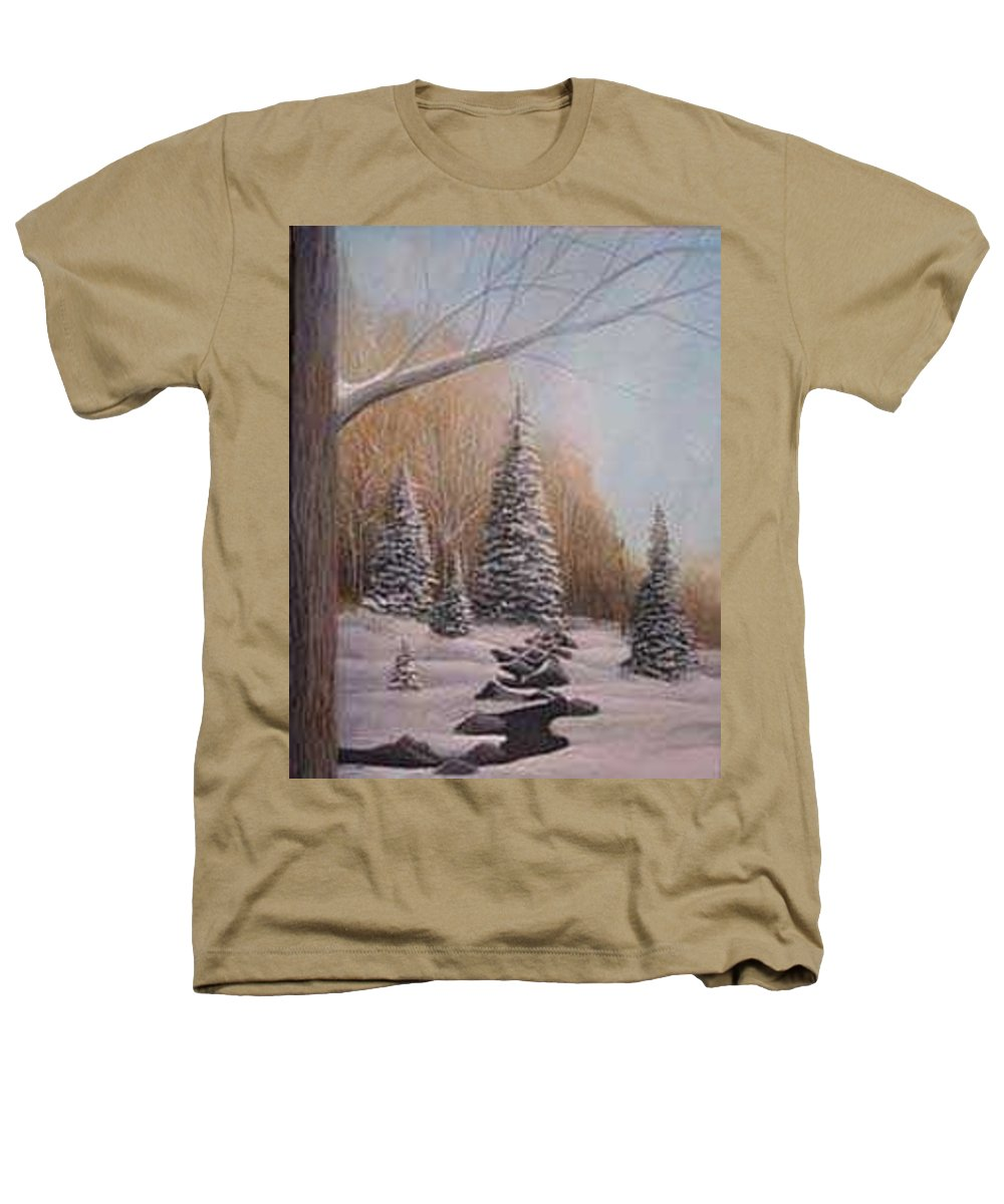 Rick Huotari Heathers T-Shirt featuring the painting Winter Morning by Rick Huotari