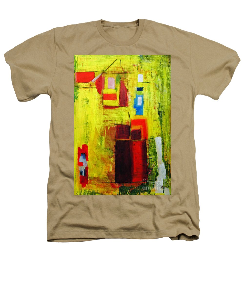 Abstract Painting Heathers T-Shirt featuring the painting Yellow by Jeff Barrett