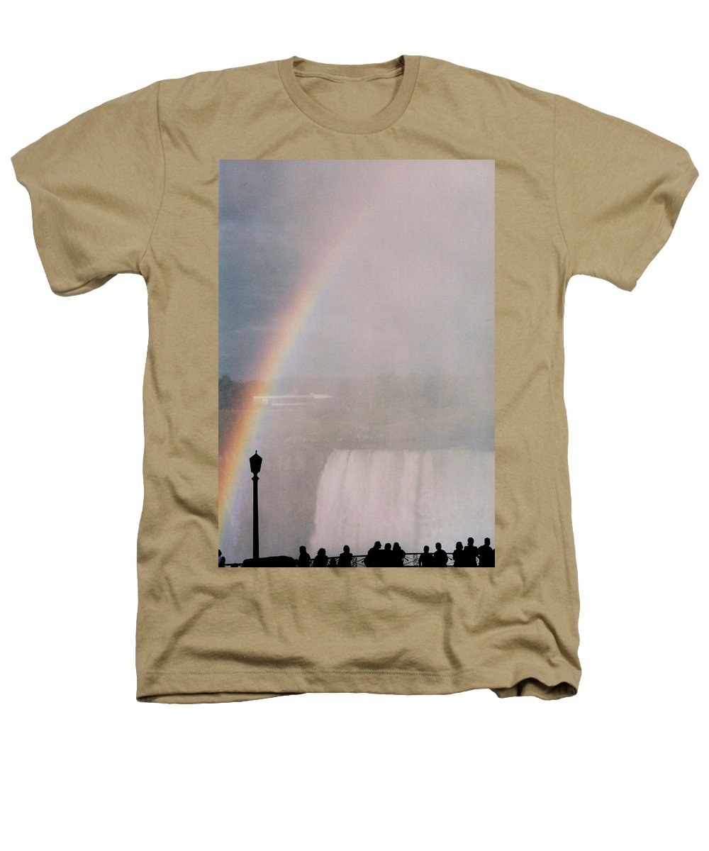 Waterfall Heathers T-Shirt featuring the photograph Rainbow Falls by Pharris Art