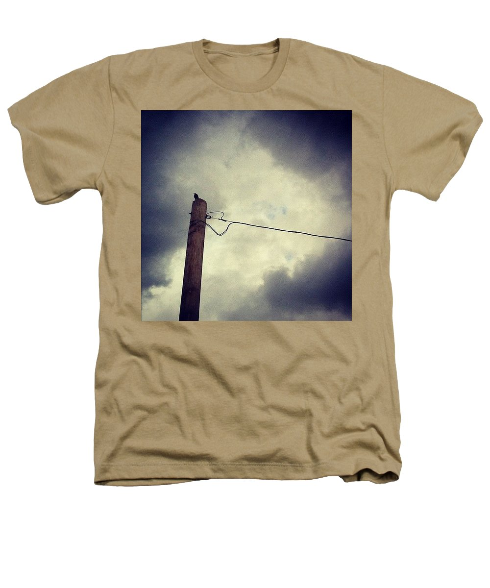 Storm Heathers T-Shirt featuring the photograph #storm Watcher by Katie Cupcakes
