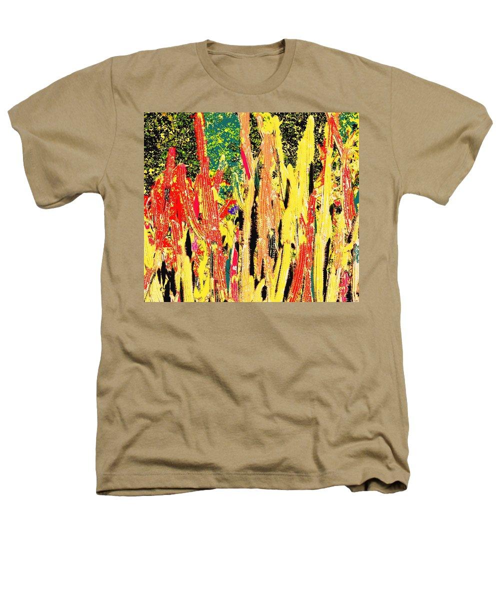 Cactus Heathers T-Shirt featuring the digital art Bridgestone Cacti by Ian MacDonald