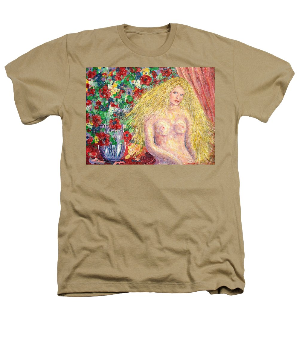Nude Heathers T-Shirt featuring the painting Nude Fantasy by Natalie Holland