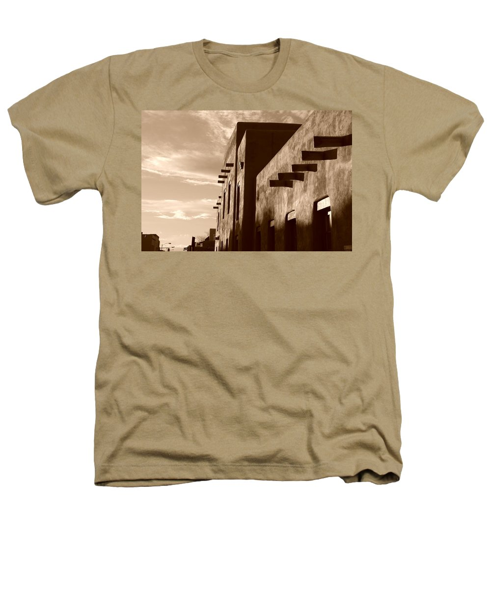 Architecture Heathers T-Shirt featuring the photograph Adobe Sunset by Rob Hans