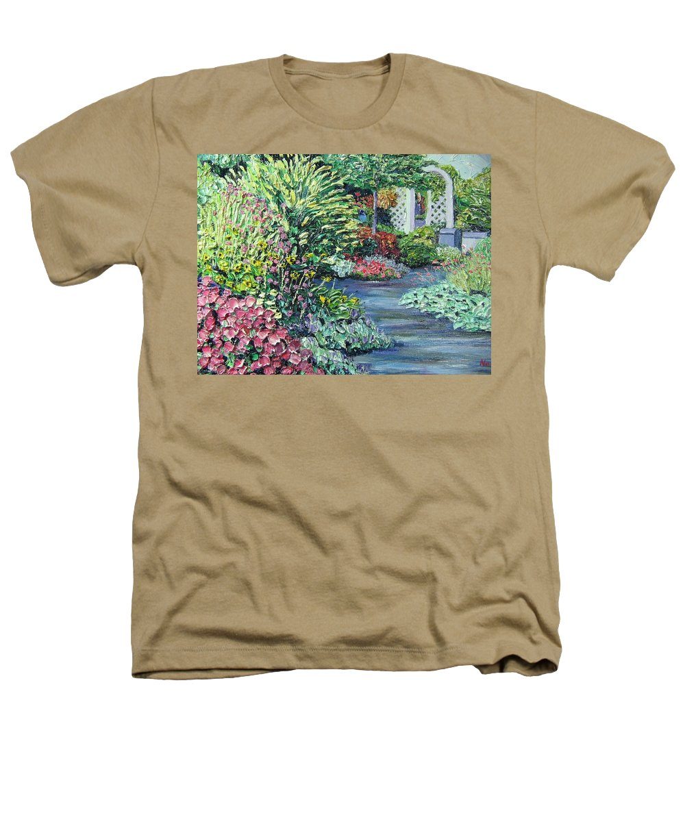 Garden Heathers T-Shirt featuring the painting Amelia Park Pathway by Richard Nowak