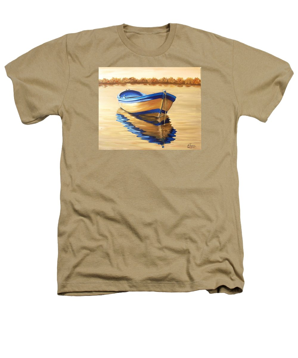 Still Life Heathers T-Shirt featuring the painting Lake by Natalia Tejera