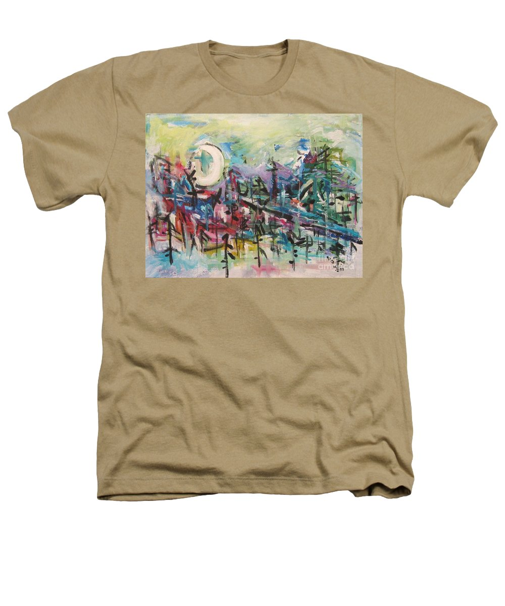 Abstract Paintings Heathers T-Shirt featuring the painting Bummer Flat2 by Seon-Jeong Kim