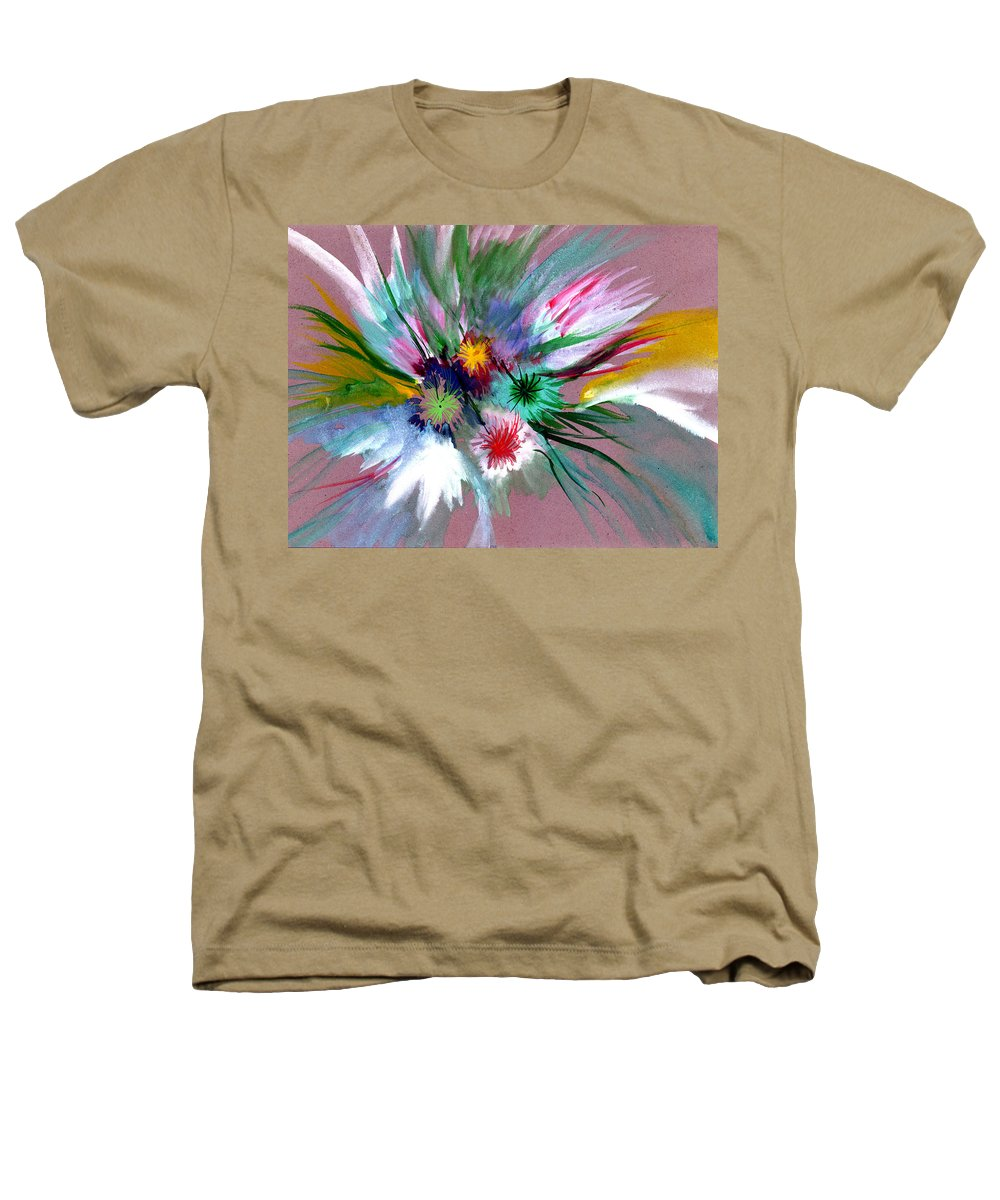 Flowers Heathers T-Shirt featuring the painting Flowers by Anil Nene