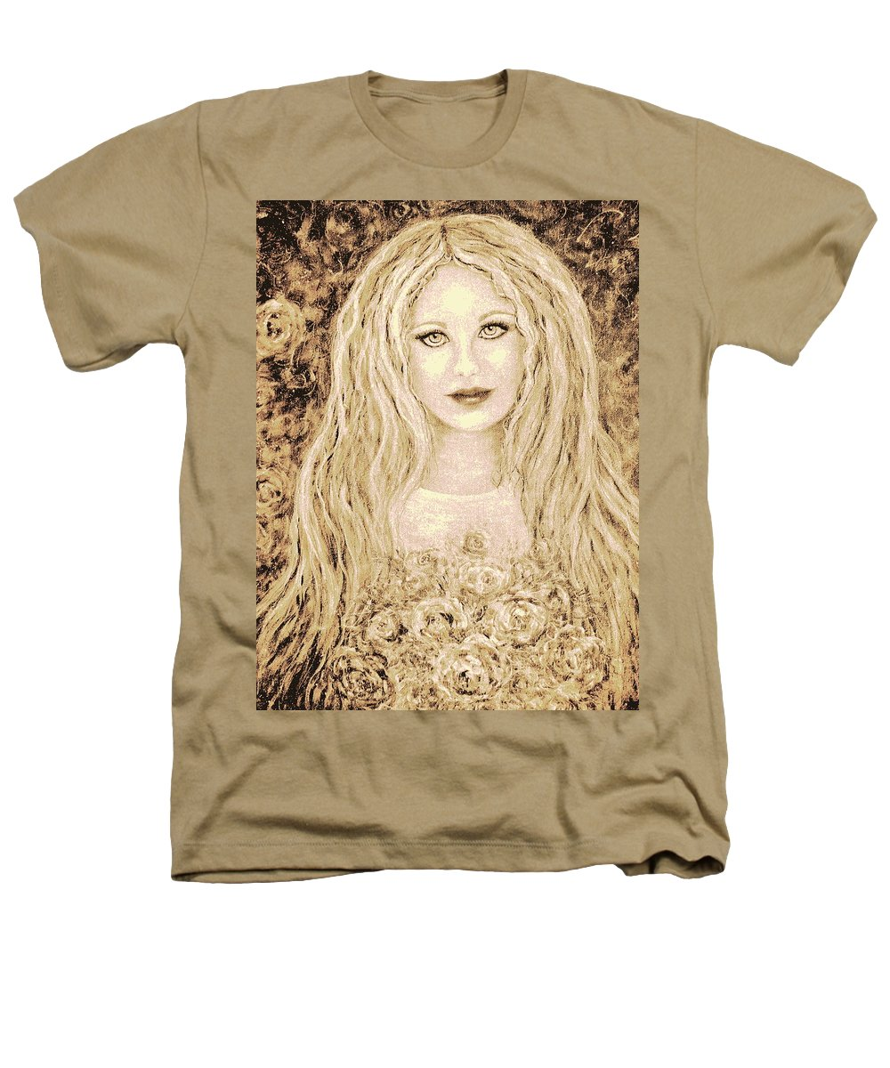 Portrait Heathers T-Shirt featuring the painting Flowers For You by Natalie Holland