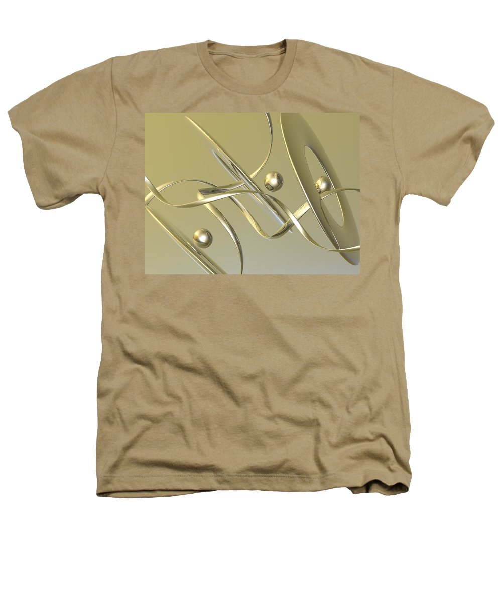 Scott Piers Heathers T-Shirt featuring the painting Gold by Scott Piers