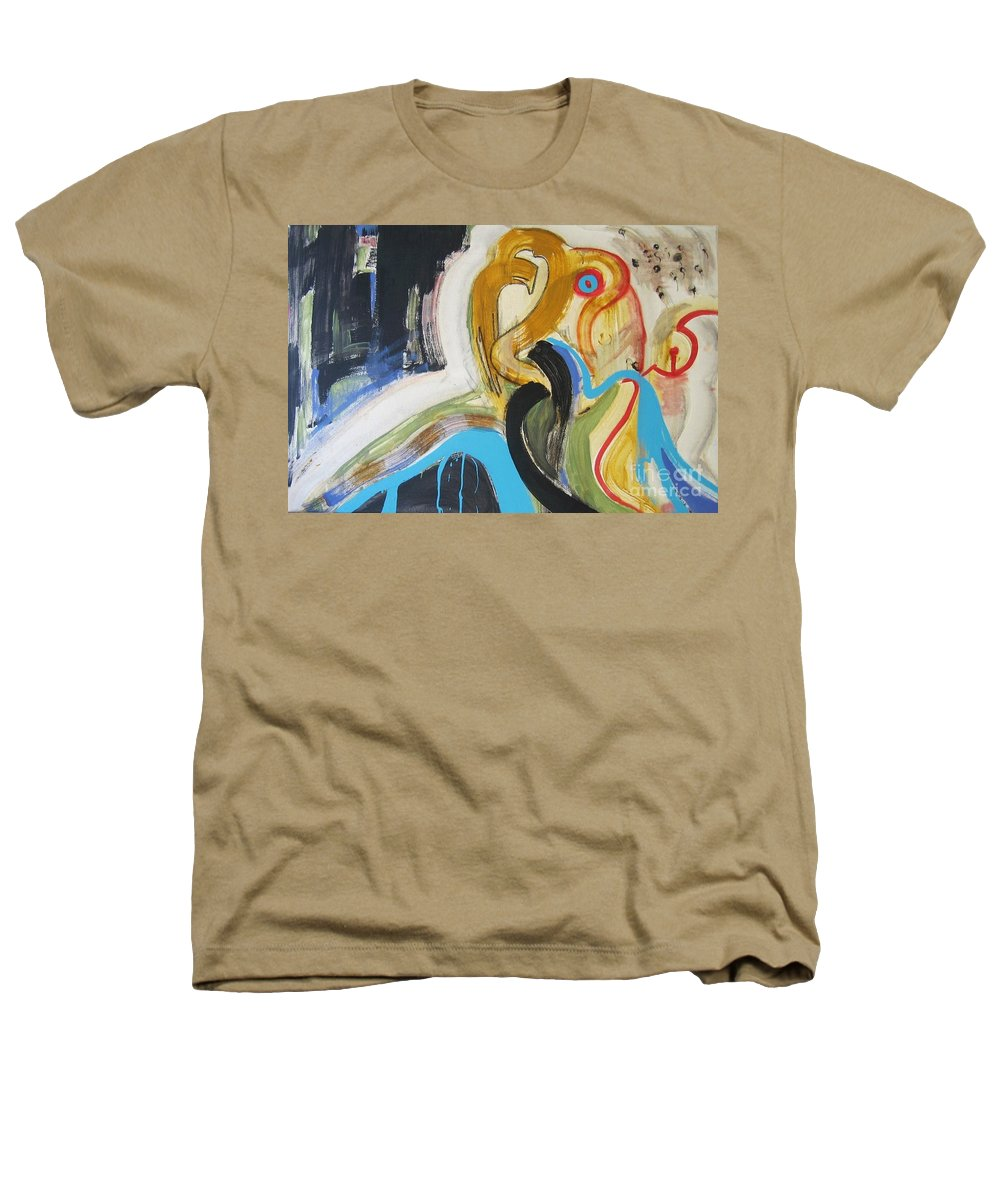 Abstract Art Paintings Heathers T-Shirt featuring the painting Hard To Escape by Seon-Jeong Kim