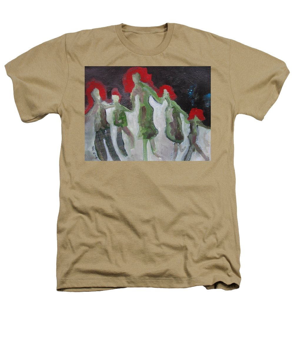 Abstract Paintings Heathers T-Shirt featuring the painting Holding Hands by Seon-Jeong Kim