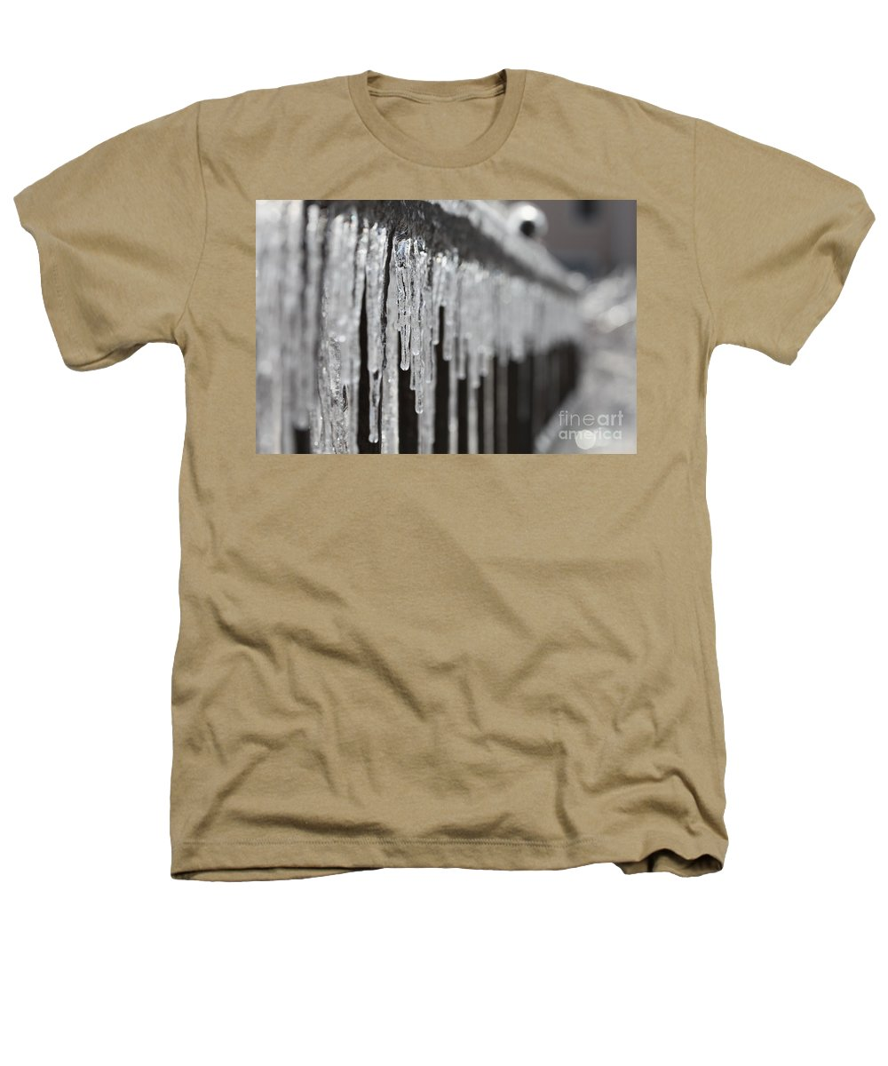 Icicles Heathers T-Shirt featuring the photograph Icicles At Attention by Nadine Rippelmeyer