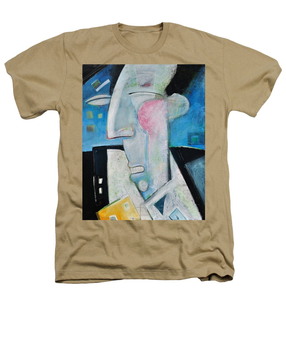 Jazz Heathers T-Shirt featuring the painting Jazz Face by Tim Nyberg
