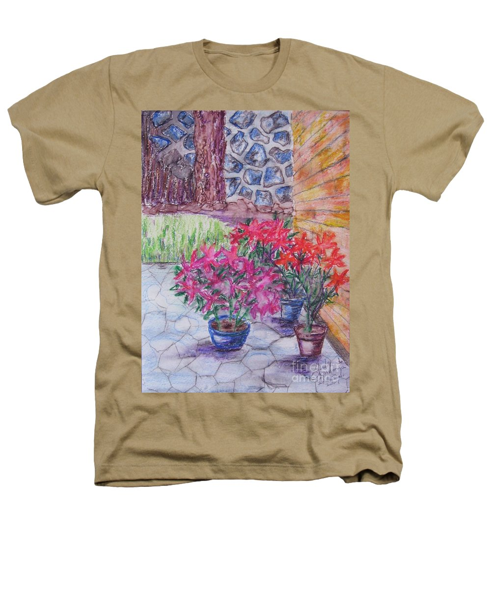 Poinsettias Heathers T-Shirt featuring the painting Poinsettias - Gifted by Judith Espinoza