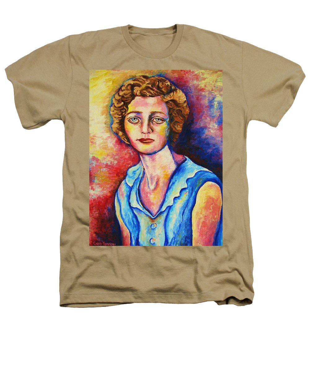 Portraits Heathers T-Shirt featuring the painting Sad Eyes by Carole Spandau