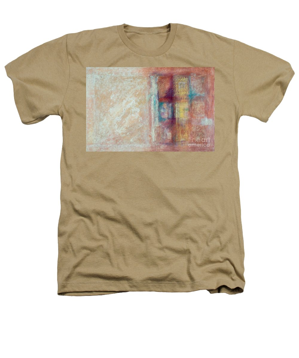 Mixed-media Heathers T-Shirt featuring the painting Spirit Matter Cosmos by Kerryn Madsen-Pietsch
