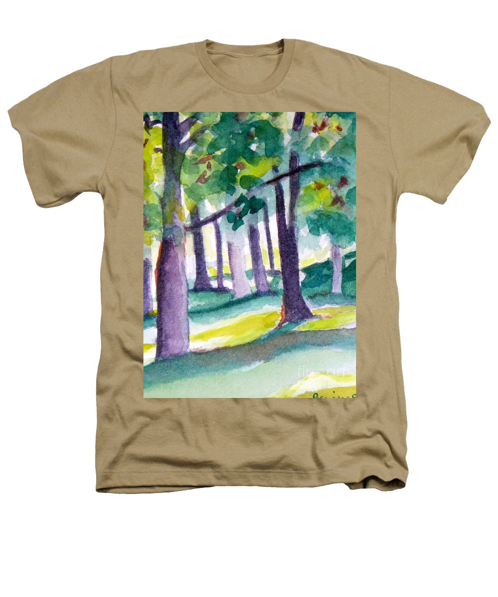 Nature Heathers T-Shirt featuring the painting The Perfect Day by Jan Bennicoff