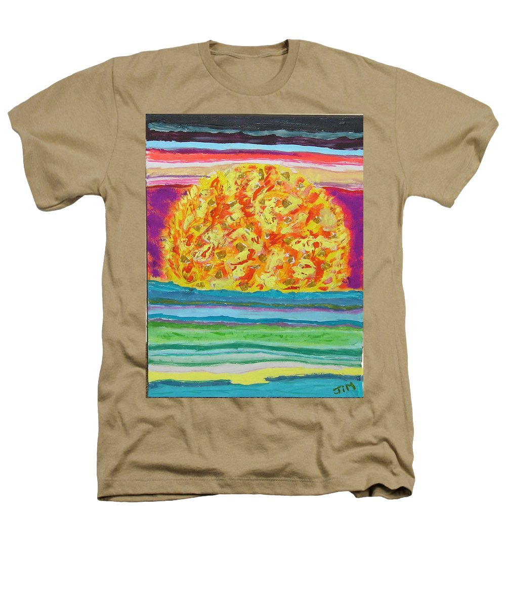 Hot Heathers T-Shirt featuring the painting The Sun Drinks The Ocean And Eats The Sky by James Campbell