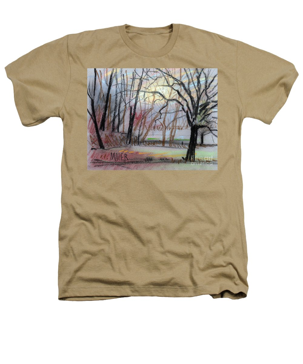 Landscape Heathers T-Shirt featuring the drawing Turner South by Donald Maier