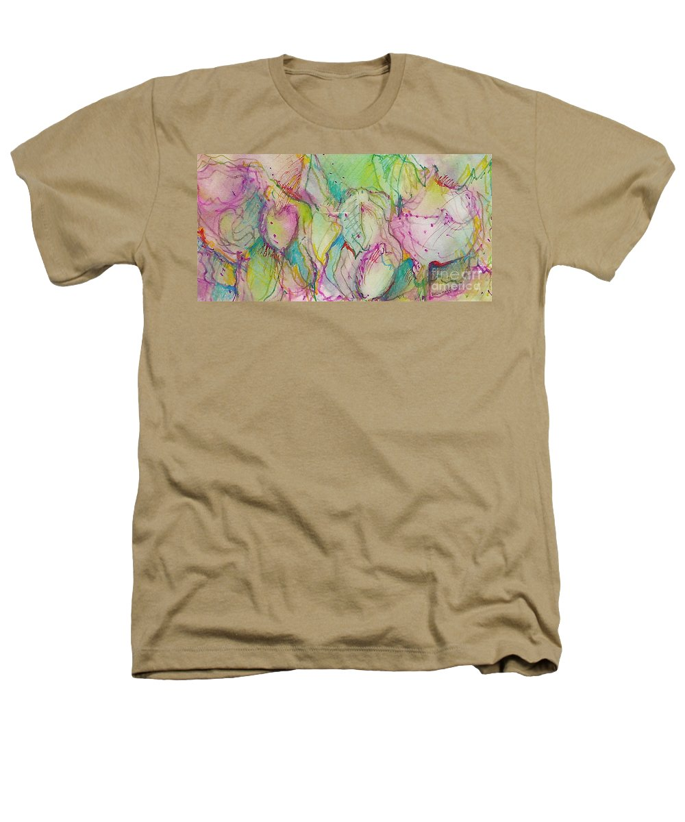 Abstract Heathers T-Shirt featuring the painting Two Lips by Jan Bennicoff