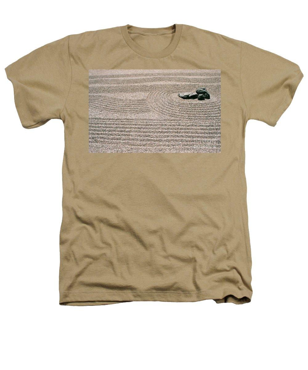 Zen Heathers T-Shirt featuring the photograph Zen Garden by Dean Triolo
